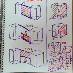 3) 実験 - 制作 - 幾つかの作品<br />検討-04