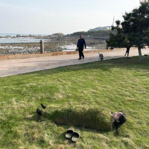 セン セイブン|SEN Seibun<br />09_20210503_芝生を体に覆う